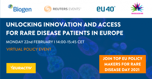 Media Partnership - Unlocking innovation and access for rare disease patients in Europe