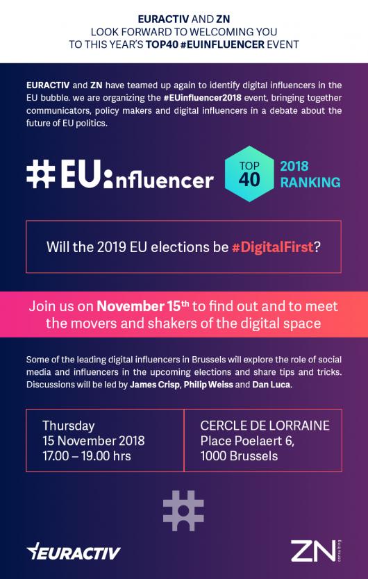 #EUinfluencer Ranking 2018