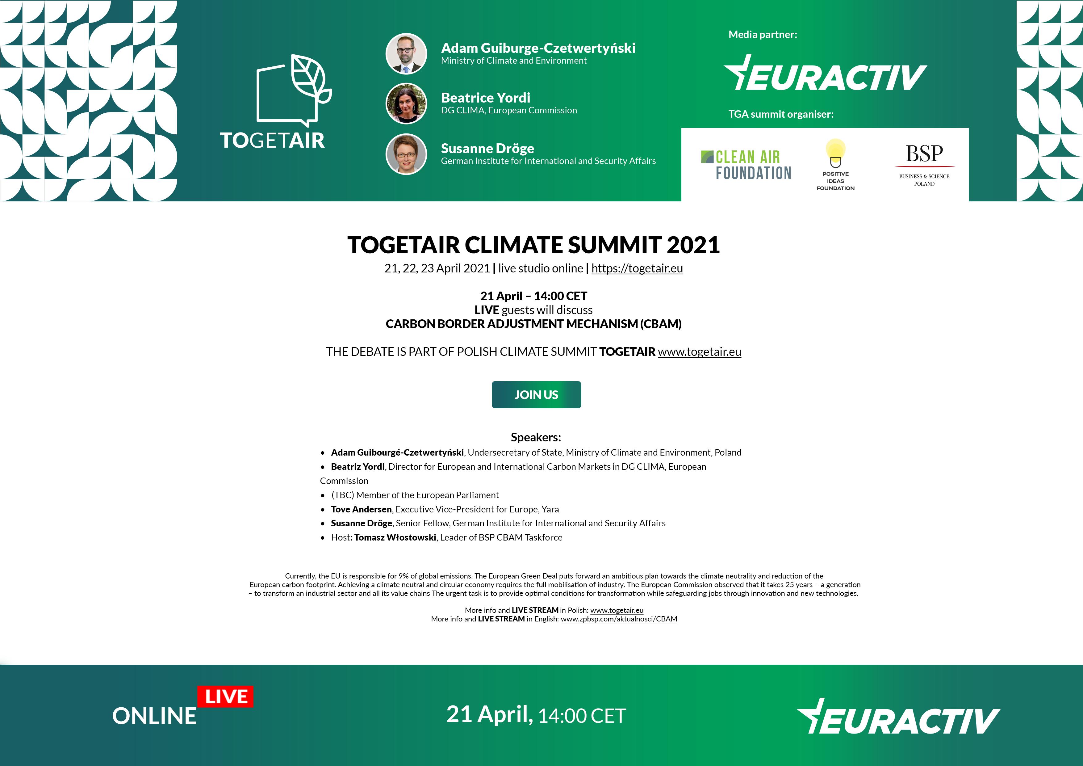 Media Partnership: TOGETAIR Climate Summit 2021