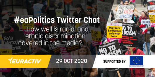 #EAPOLITICS TWITTER CHAT | HOW WELL DO YOU THINK DISCRIMINATION BASED ON RACIAL OR ETHNIC ORIGIN IS COVERED IN THE MEDIA?